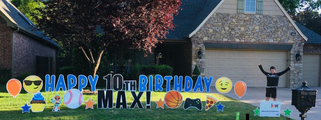 Happy Birthday Yard Sign for Max