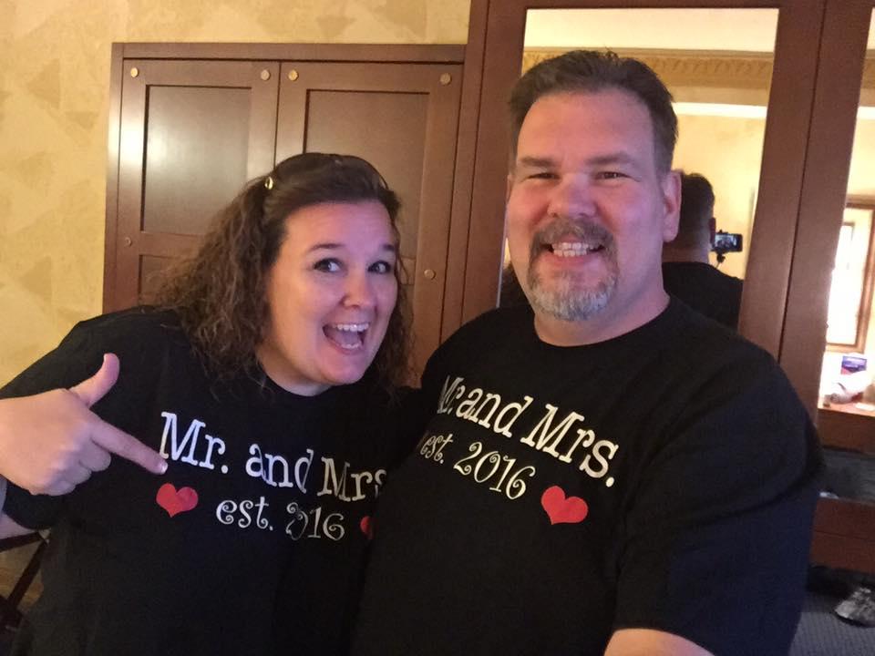 Brenda Adkins and her husband