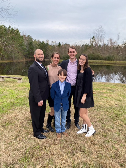 April and Spencer Baggott and the family