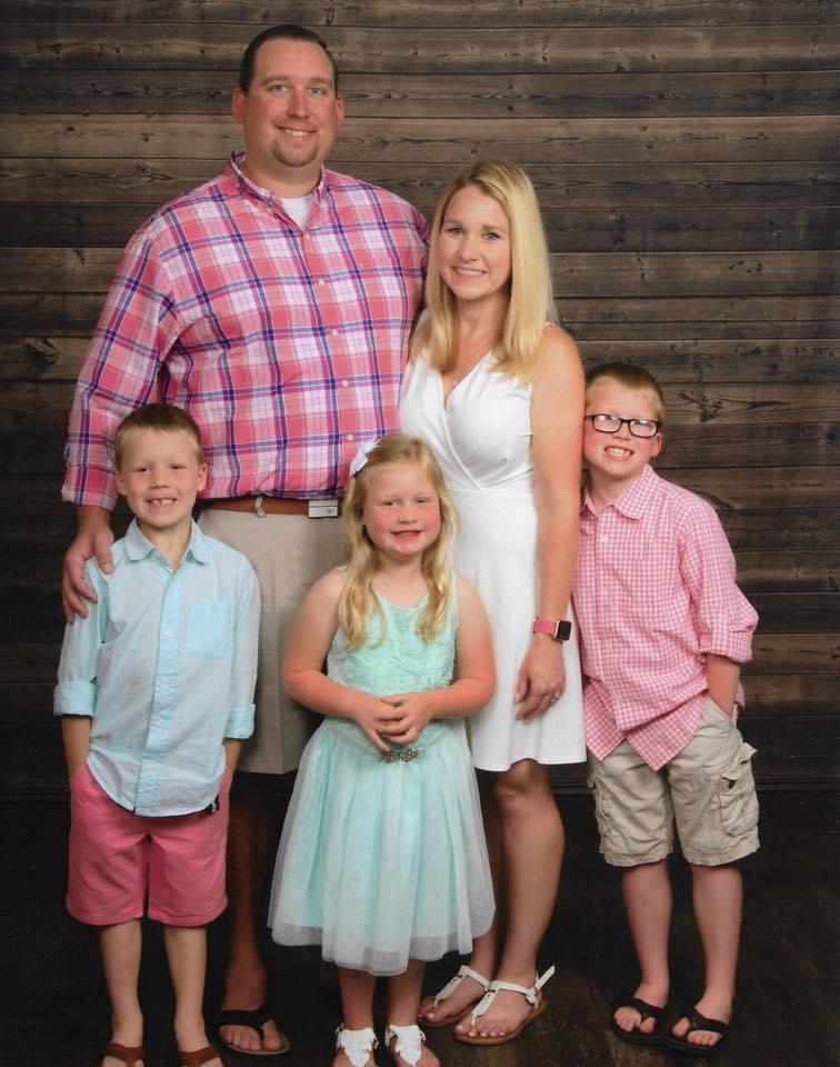 Lauren and Robert Kellett and their family
