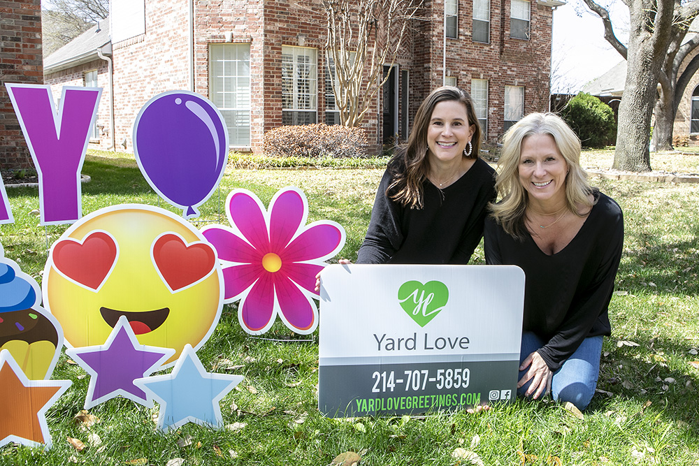 Alison and Mary with Yard Love 214 in Dallas, TX