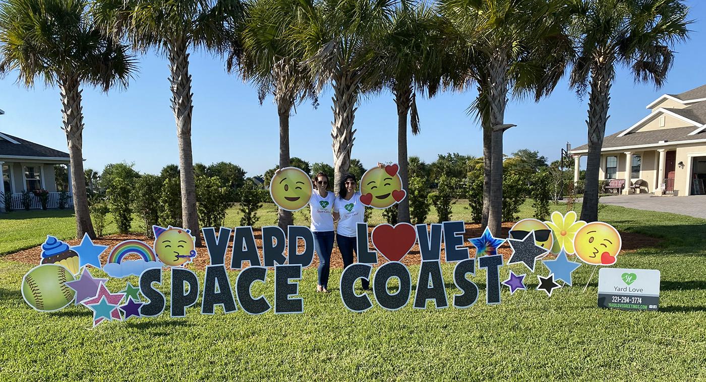 JoAnna and Helen Yard Love Space Coast